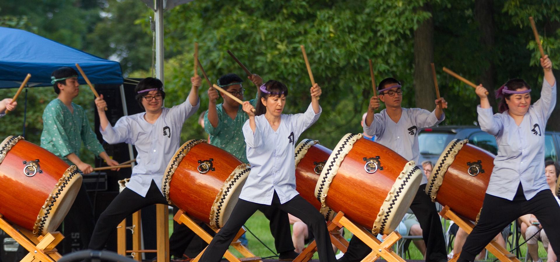 Drummers at Destination Asia Festival